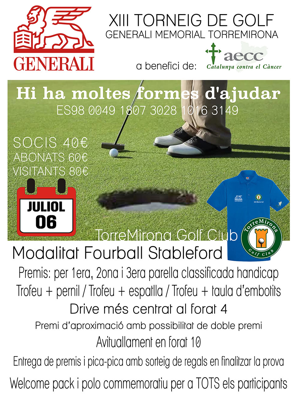 XIII torneig de golf Generali Memorial Torremirona